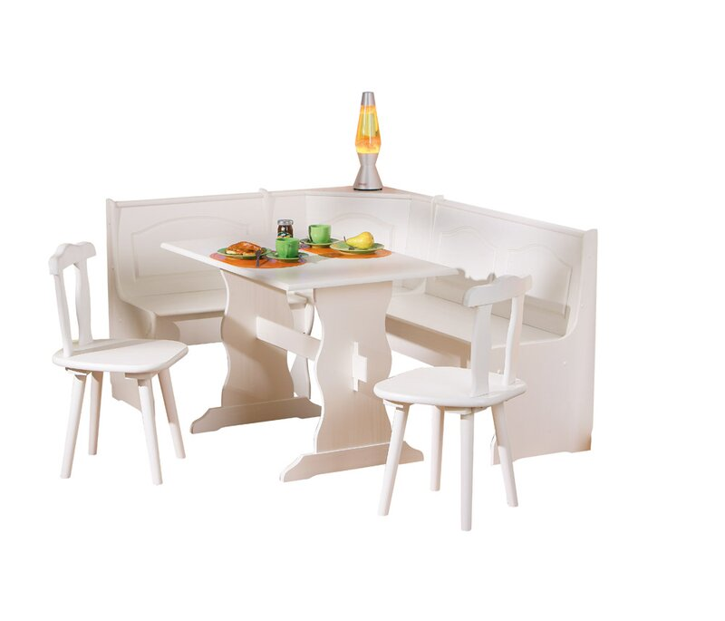 Alpenhome Wamsutter Corner Dining Set With 2 Chairs And Storage