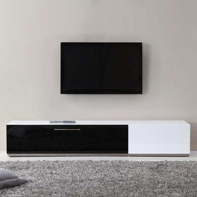 B-Modern Producer TV Stand for TVs up to 88 Color: White