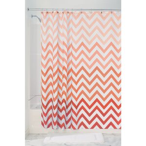 Pink And Teal Shower Curtain Michelle Drew Parasol Flowers Pink