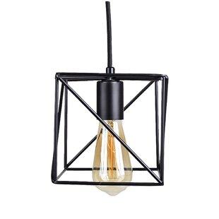 Cirebon Square Modern Industrial Cage 1 Light Square/Rectangle Pendant