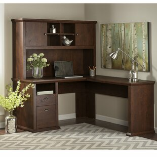 Ferrell L Shape Corner Desk With Hutch. By Three Posts
