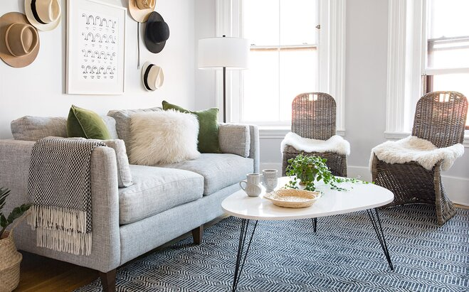 SmallSpace Makeover A Bright Open Living Room Wayfair