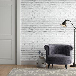 Whitewash Brick Wallpaper Wayfair