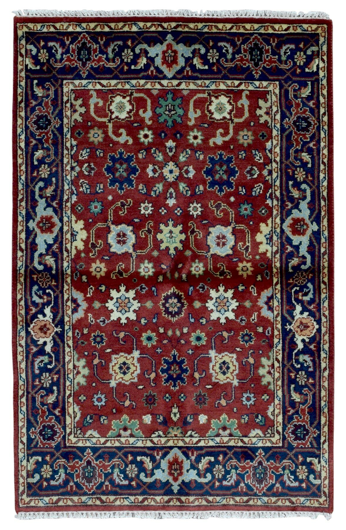 Isabelline One Of A Kind Tanesha Oriental Hand Woven Red Area Rug   Wayfair