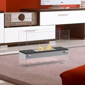 Jacqueline Ventless Free Standing Ethanol Fireplace by Orren Ellis