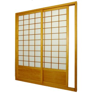 intricate sliding room divider. 83  x 73 5 Single Sided Sliding Door Shoji Room Divider Hanging Kit Wayfair