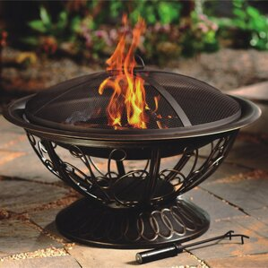 Wood Burning Patio Fire Pits outdoor fireplaces you'll love | wayfair