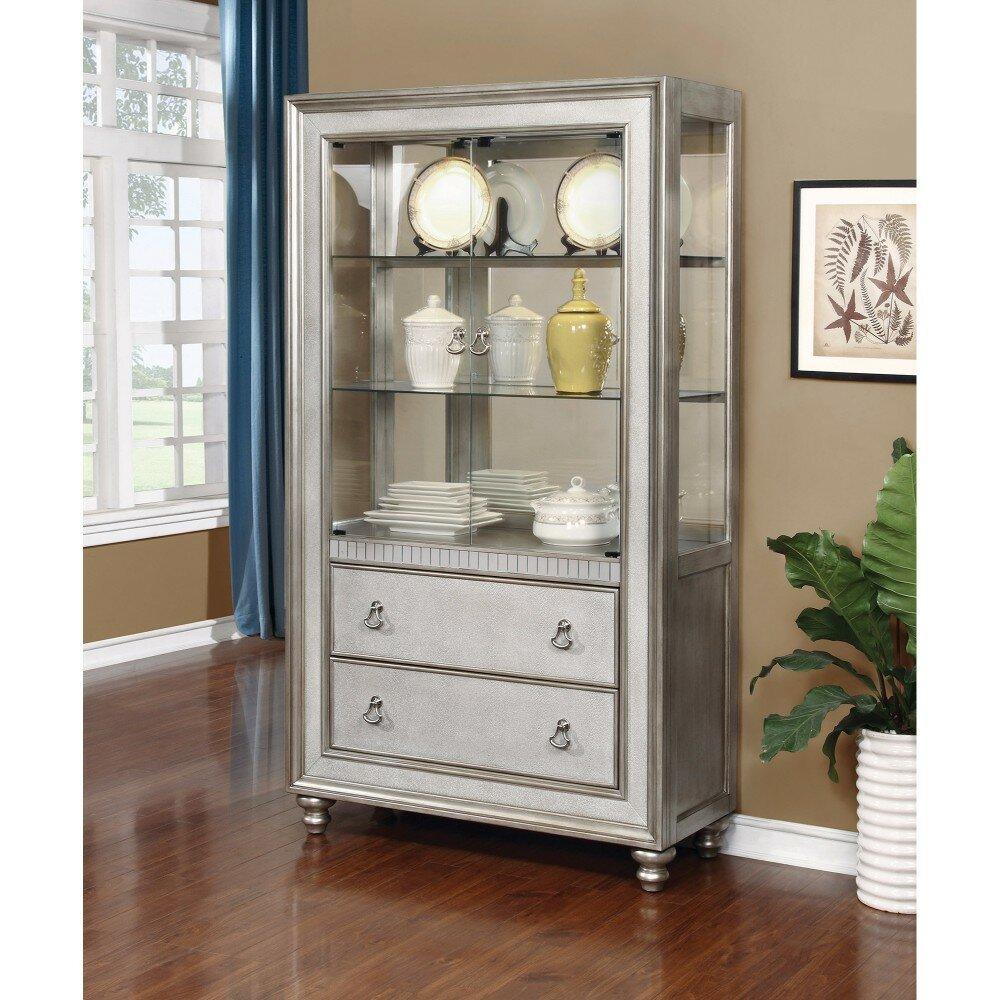 Delicieux Rosdorf Park Leighty Metal Curio Cabinet | Wayfair