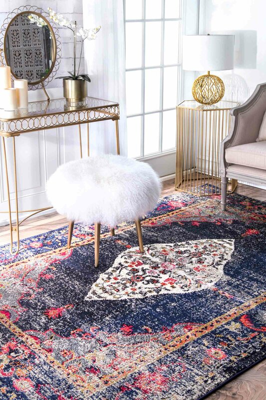 Mistana Paradiso Navy Area Rug Amp Reviews Wayfair