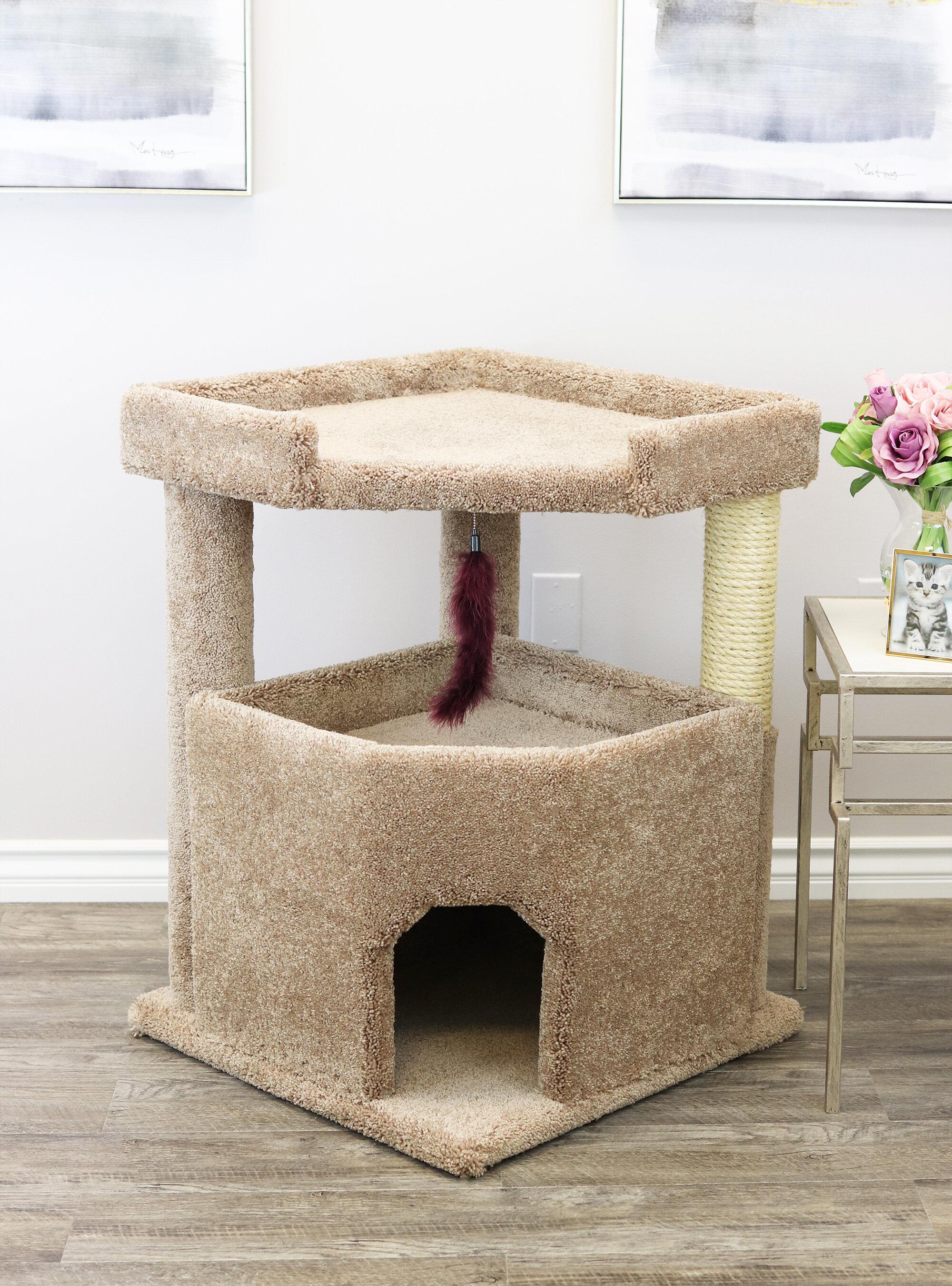 armarkat product cfm tree cat hayneedle with condo in master hammock scratcher pet furniture