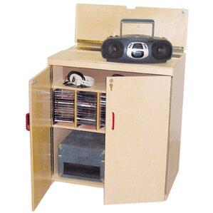 Lock-It-Up Center Audio Cabinet by Wood Designs