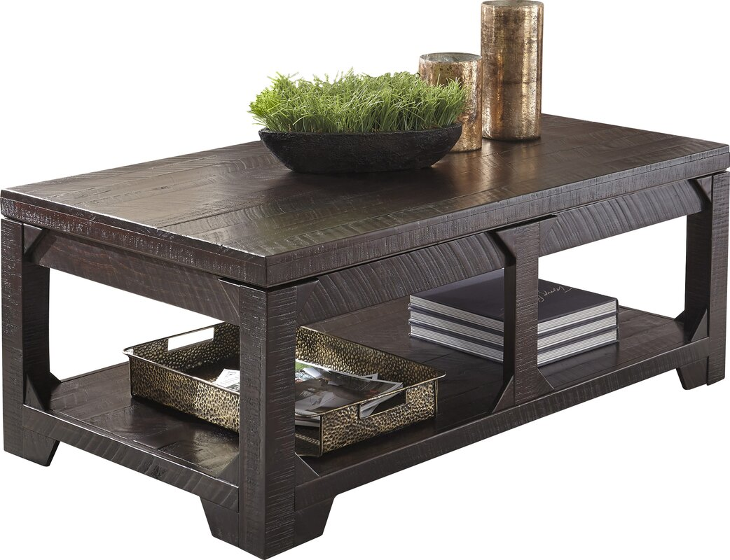 world menagerie skylar coffee table with lift top reviews wayfair. Black Bedroom Furniture Sets. Home Design Ideas