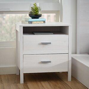 lorraine 2 drawer nightstand
