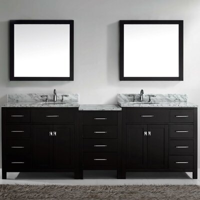 "silkroad exclusive hamilton 95"" double bathroom vanity set"