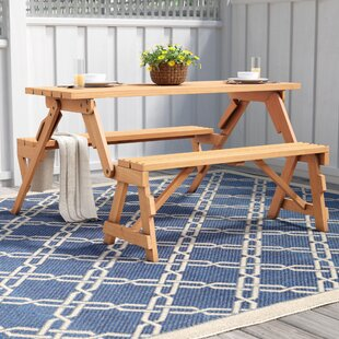 Convertible picnic table bench wayfair andres folding picnic table and bench watchthetrailerfo
