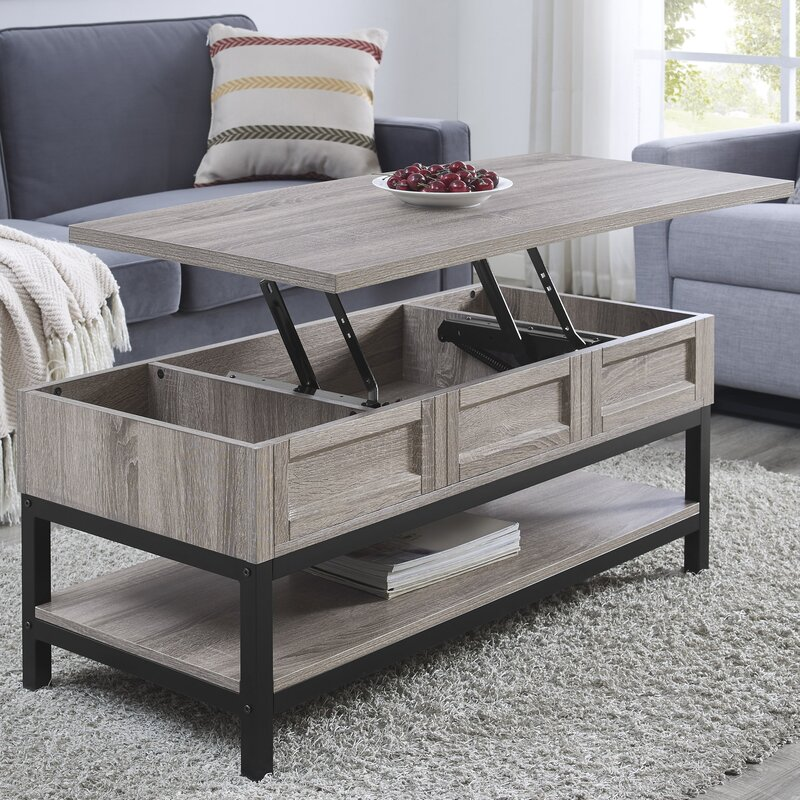 Laurel foundry modern farmhouse omar lift top coffee table for Modern farmhouse coffee table