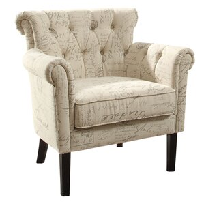 Schofield Traditional Upholstered Armchair b..