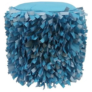 Dimensional Strips Pouf Ottoman by Edie Inc.