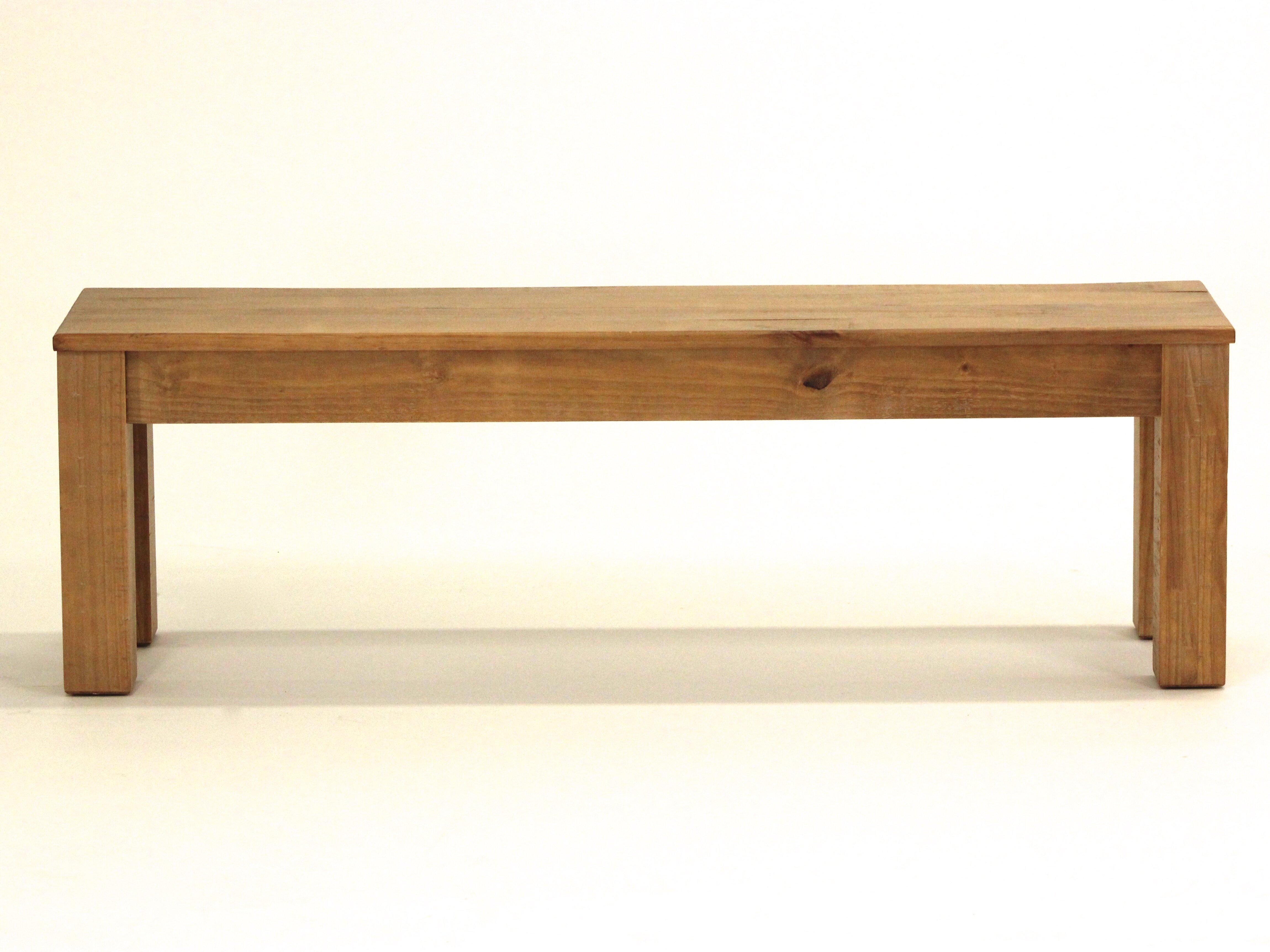 langer naturholzmöbel küchenbank canela aus holz | wayfair.de