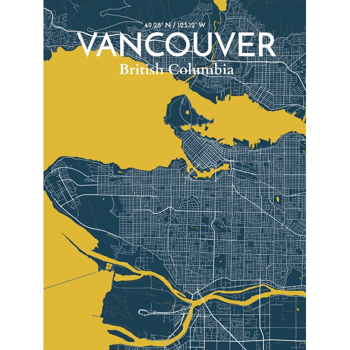 Ourposter vancouver city map graphic art print poster in vancouver city map graphic art print poster in amuse gumiabroncs Choice Image