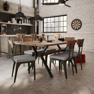 Darcelle 5 Piece Metal and Wood Dining Set