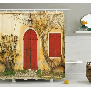 Marvelous Aged Doors Tuscan House Shower Curtain Set
