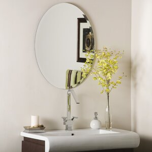 Duane Oval Bevel Frameless Wall Mirror