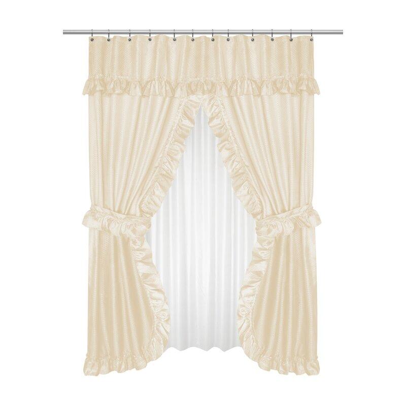Gahanna 5 Piece Double Swag Shower Curtain Set