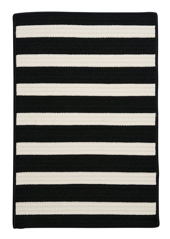 Colonial Mills Stripe It Black White Indoor Outdoor Area