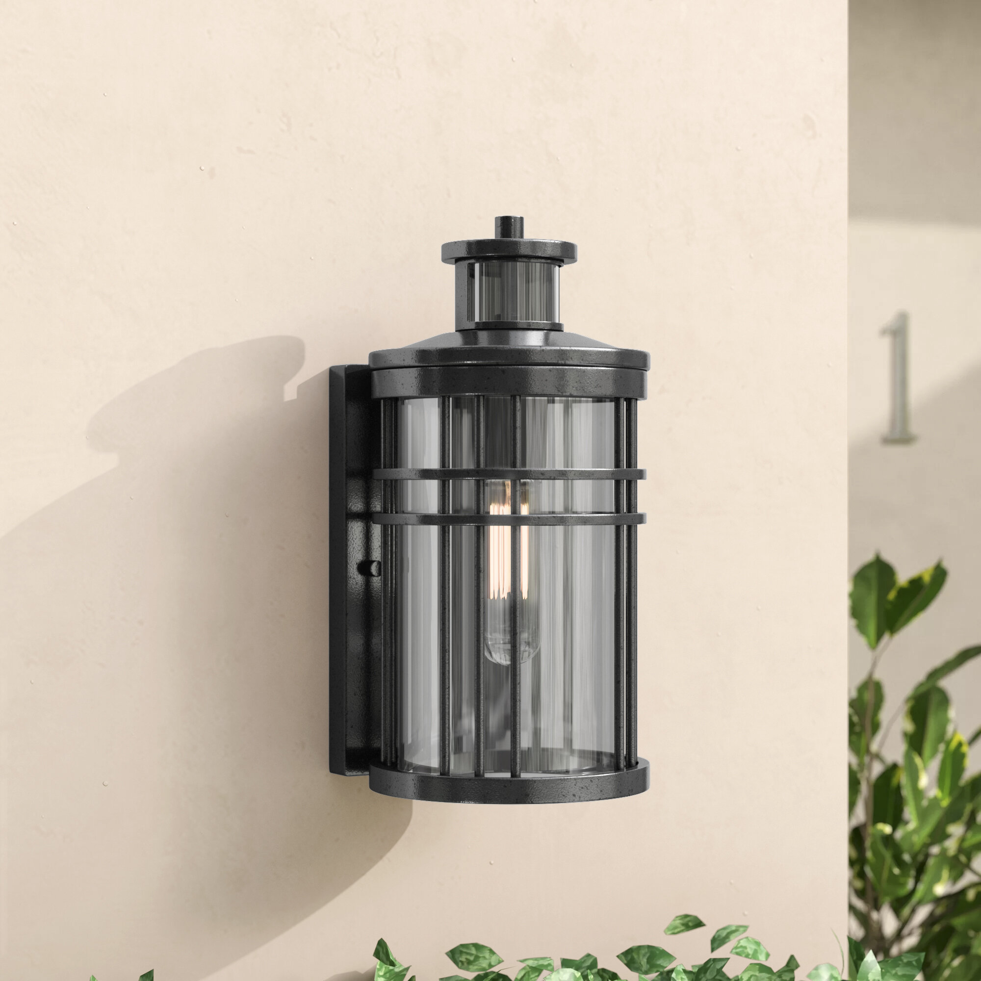 Motion Sensor Outdoor Wall Lighting Youll Love Wayfair The Circuit Above Is A Light That Means Must Shine Into Sathvik Lantern With