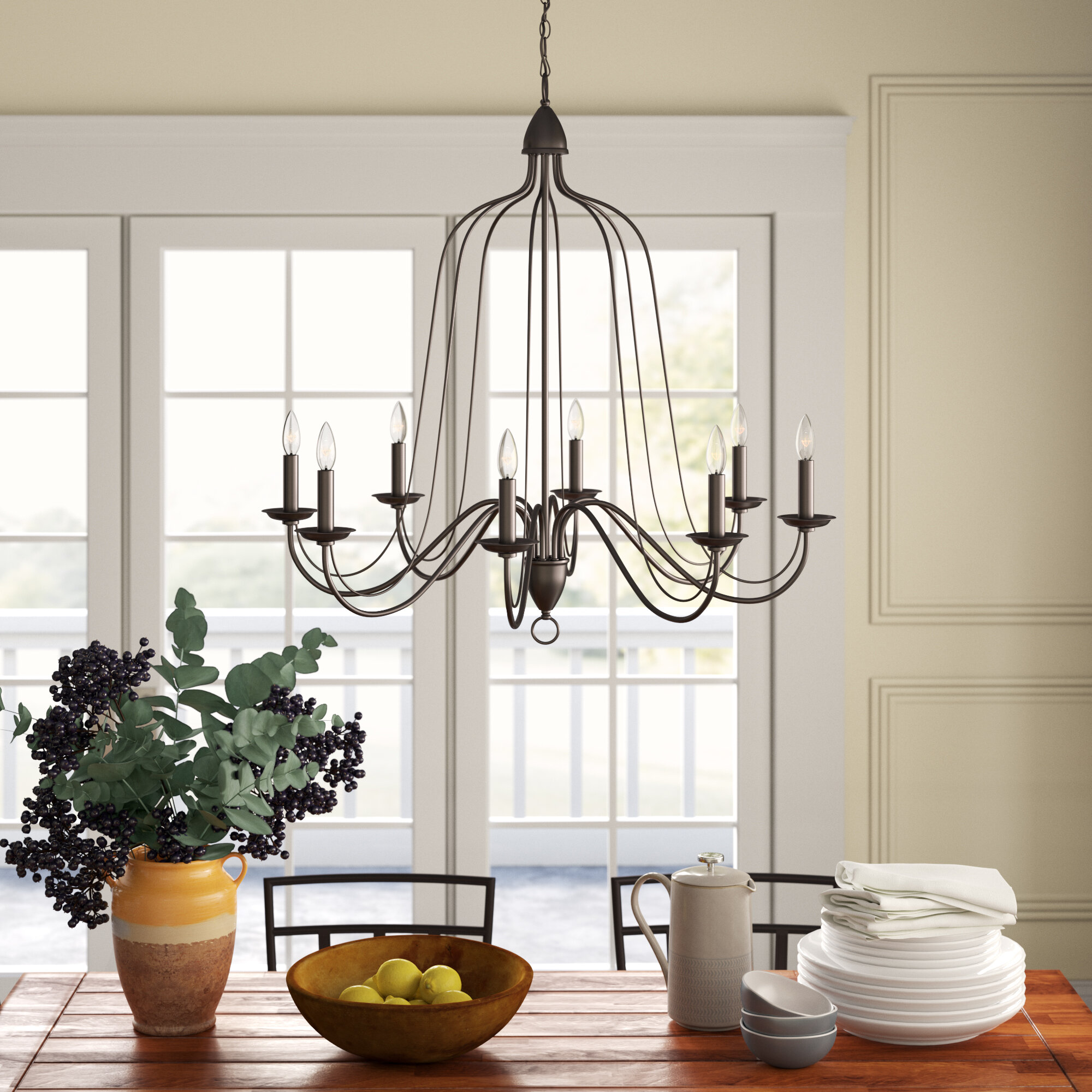 Pleasant Hatfield 8 Light Candle Style Chandelier Interior Design Ideas Tzicisoteloinfo