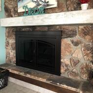 Stupendous Fenwick Cabinet Style Steel Fireplace Doors Interior Design Ideas Philsoteloinfo