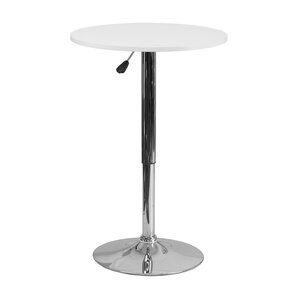 Noemi Round Adjustable Pub Table by Orren Ellis