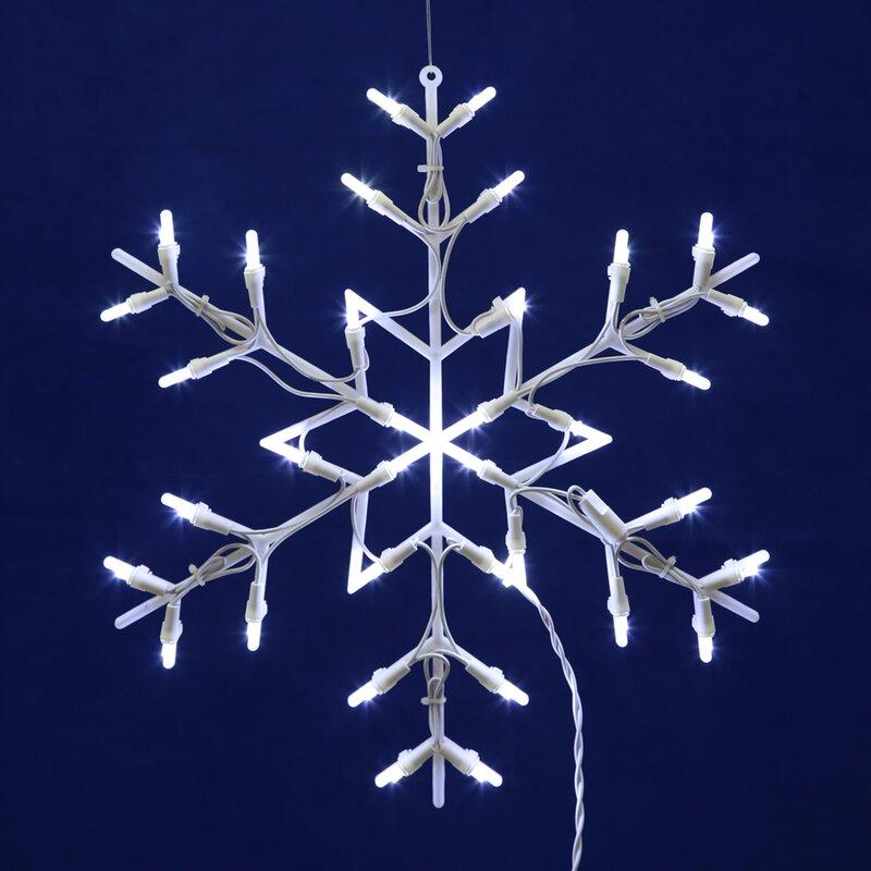 LED Snowflake 35 Light String Lights The Holiday Aisle \u0026 Reviews