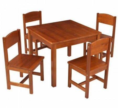 KidKraft Farmhouse Kids 5 Piece Square Table And Chair Set U0026 Reviews |  Wayfair
