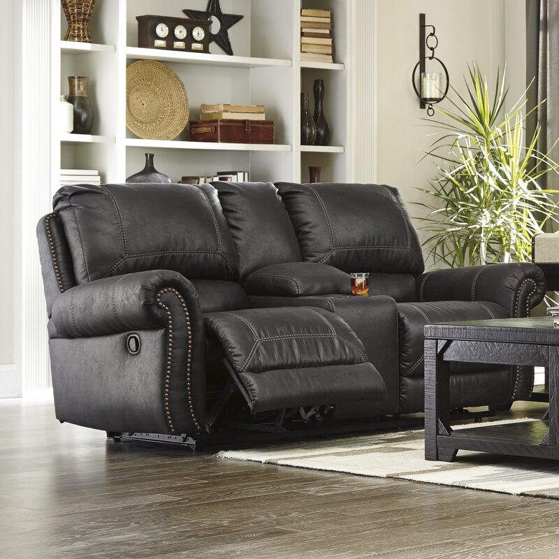 Collier Double Recliner Reclining Sofa With Console