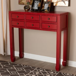 red console tables you ll love in 2019 wayfair rh wayfair com red sofa table decor rustic red sofa table