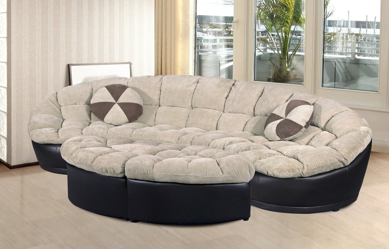 Orren Ellis Chantilly 4 Piece Living Room Set & Reviews | Wayfair