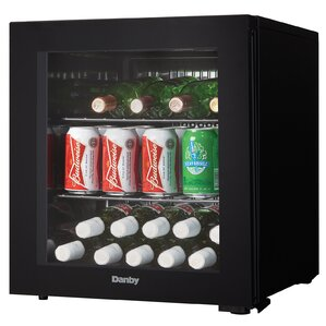 16 Bottle Single Zone Freestanding Wine Cooler by Danby