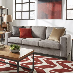 Gray Sofa With Nailhead Trim | Wayfair