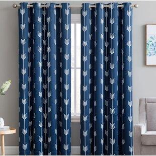 Modern Geometric Curtains Drapes Allmodern