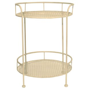 Metal wire side table wayfair dublin wire metal mesh round with two tiers side table keyboard keysfo Images