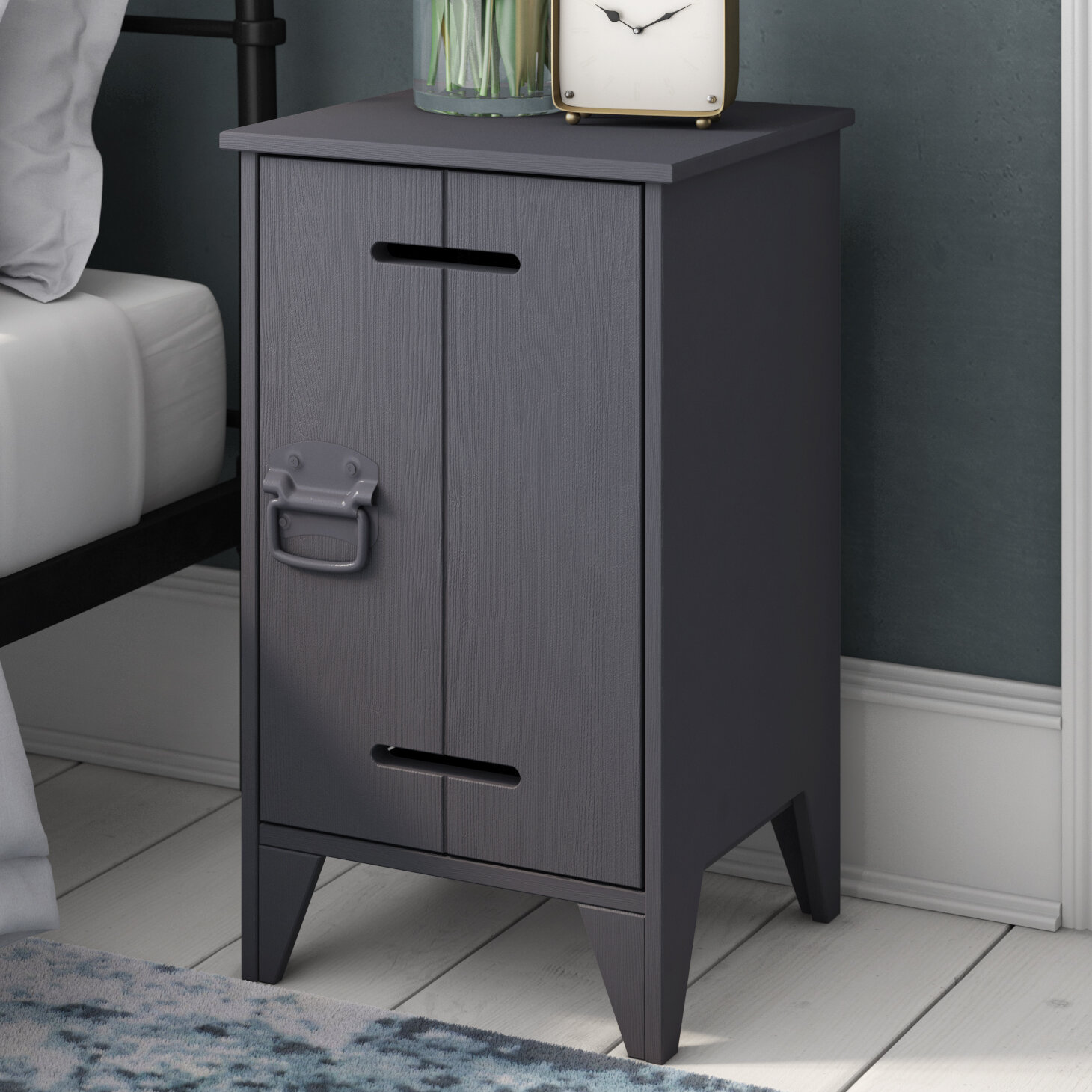 Contemporary Kluis Solid Wood Cabinet In Steel Grey Cornwall Dream