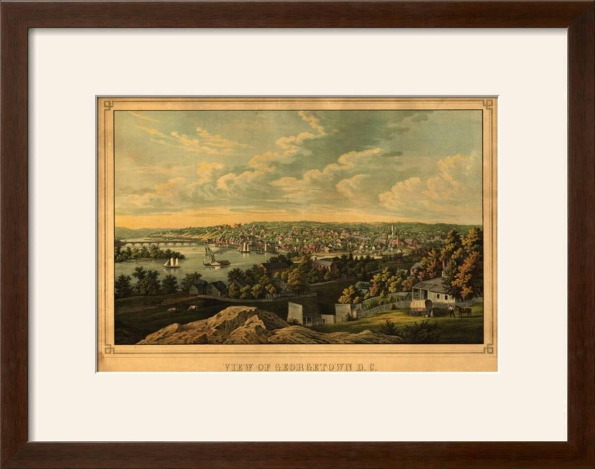 Charlton Home \'Georgetown, Washington DC - Panoramic Map\' Framed ...