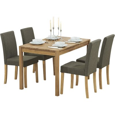 Bilson Folding Dining Set With 4 Chairs
