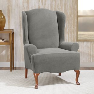 Black U0026 Grey Wing Chair Slipcovers Youu0027ll Love | Wayfair