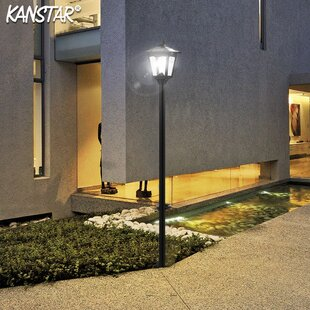 Lamotte Street Vintage Outdoor Garden 70 Led Solar Lamp Post