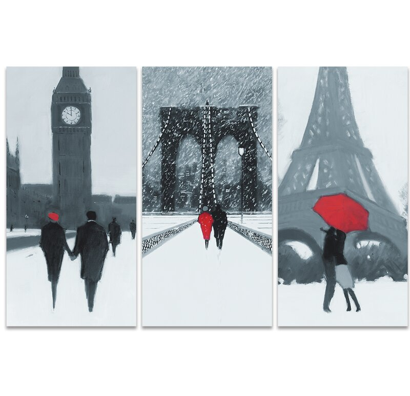 London, New York, Parisu0027 Wall Art Multi Piece Image On Canvas