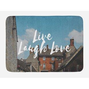 af8a4f0ccb Ambesonne Live Laugh Love Bath Mat by