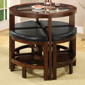 Jinie 5 Piece Counter Height Pub Table Set by Red Barrel Studio